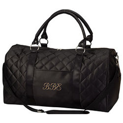 Personalized Quilted Carry-On Duffle Bag