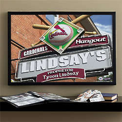 Personalized St. Louis Cardinals Bar Art Print