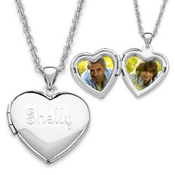 Children's Engraved Heart Locket Pendant