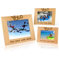 YOLO Wooden Photo Frame