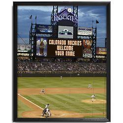 Personalized Colorado Rockies Scoreboard Print