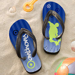 Skateboarding Personalized Boy's Flip Flop Sandals