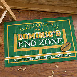 End Zone Personalized Football Doormat