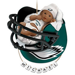 Philadelphia Eagles African American First Christmas Ornament