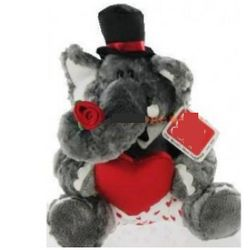 Plush Casanova Stuffed Elephant with Heart