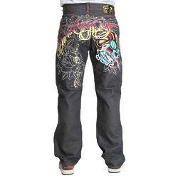 Christian Audigier Moto Skull Denim Jeans