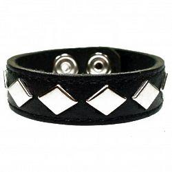 Hank Moody Black Leather Studded Cuff Bracelet