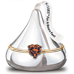 Kisses for a Chicago Bears Fan Music Box