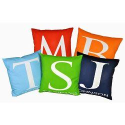 Modern Monogrammed Initial Pillows