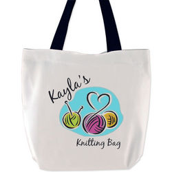Personalized Knitting Bag