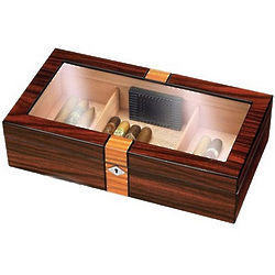 Two-Tone Glass Top Humidor
