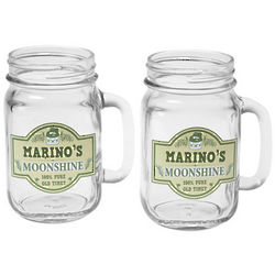 Personalized Moonshine Mason Jars