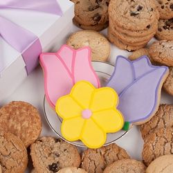 Tulips and Daisy Signature Cookie Gift Box