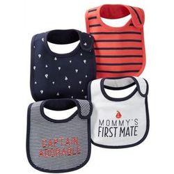 Baby Boy's First Captain Bib Set