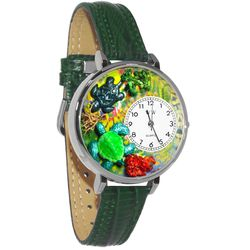 Turtles Watch in Large Silver Case