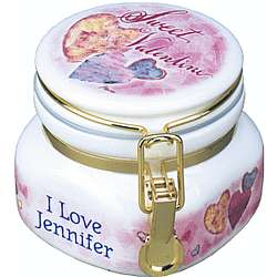 Personalized Valentine's Candy Jar