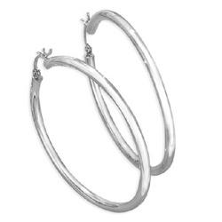 14kt White Gold 3mm Hoop Earrings