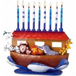Handmade Noah's Ark Menorah