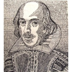 William Shakespeare in 'LetterismArt'