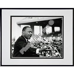 Rev. Dr. Martin Luther King Jr. Speaking Framed Photograph