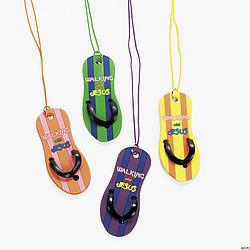 Walking With Jesus Flip Flop Necklaces