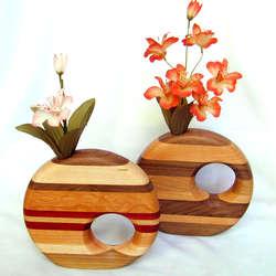 Wood Bud Vase