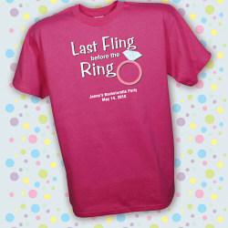 Personalized Last Fling Bachelorette Party T-Shirt