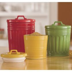 Ceramic Trash Can Canisters