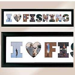 I Heart Fishing Collage Photo Frame