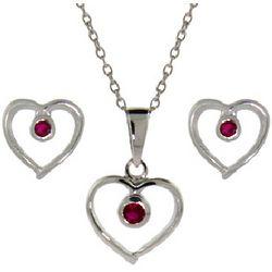 Sweetheart Earrings and Pendant Set