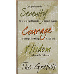 Serenity Prayer Personalized Wall Canvas