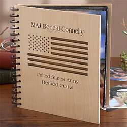 Personalized American Flag Photo Album