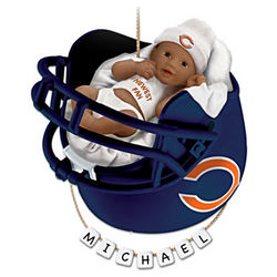 Chicago Bears African American First Christmas Ornament