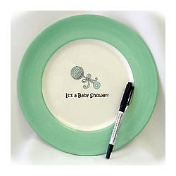 It's a Baby Shower Signature Plate
