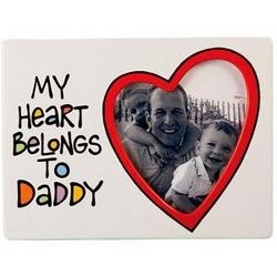My Heart Beongs To Daddy Picture Frame