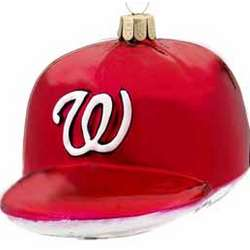 Personalized Washington Nationals Baseball Hat Ornament