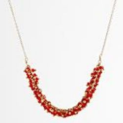 Gold-Filled Red Seed Bead Necklace