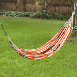 Personalized Orange and Cream Hammock in a Bag