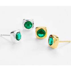 20th Anniversary Emerald Earrings