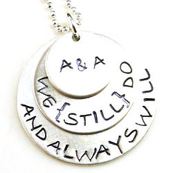 We Still Do Personalized Hand-Stamped Necklace
