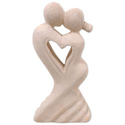 One Heart for Two Limestone Sculpture