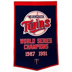 Minnesota Twins Vintage Wool Dynasty Banner with Cafe Rod