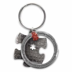 Working Together Is Success Metal Keychain