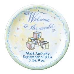 Personalized Birth Plate for Boy or Girl
