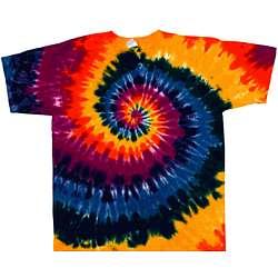 Dark Rainbow Spiral Tie Dye T-Shirt