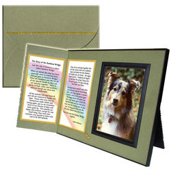 Rainbow Bridge Pet Sympathy Picture Frame