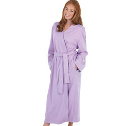 Oh-So-Soft Lavender Pin Dot Robe