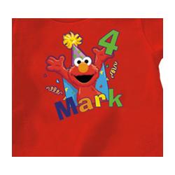 Personalized Elmo Birthday T-Shirt
