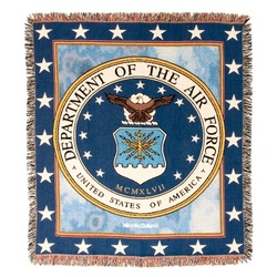 Personalized Air Force Tapestry Throw