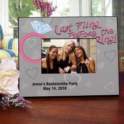 Last Fling Personalized Printed Picture Frame